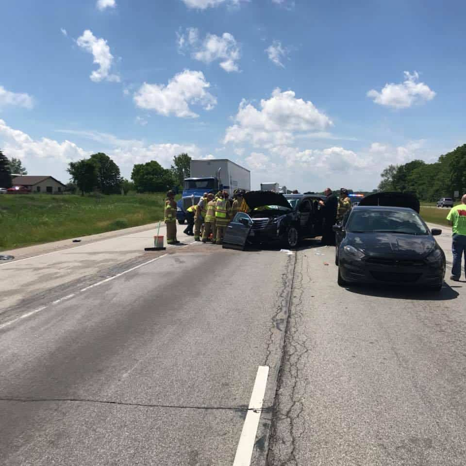 Five-car crash shuts down U.S. 30 for nearly two hours ...